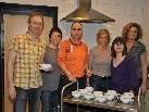 In der Suppenküche (v.l.): Gerhard Freuis, Claudia Kloos, Klaus Nemetz, Susanne Gartner, Gerda Diem und Monika Caldonazzi.