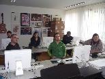 Interessiert lauschten die Besucher aus Ungarn, wie man am Jazzseminar mit Computern arbeitet.