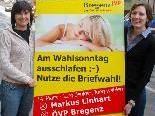 JVP Landesgeschäftsführerin Tanja Böhler und JVP Bregenz Ortsobfrau Veronika Marte