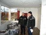 Jürgen Bildstein und Philip Mayer von der FBI VEU Feldkirch in den neuen Räumlichkeiten