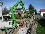 Kanalisationsarbeiten jetzt im Kalköfenweg.
