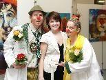 Katharina Kuntner mit den CliniClowns Frau Dr. Sonja Sünnile und Dr. Guggus.