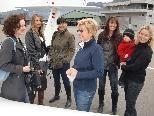 Präsentierten sich einem Kamerateam von Ländle-TV/Austria9 - die Fliegerinnen vom Flugplatz Hohenems