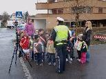 Verkehrserziehung im Kindergarten Gartenstraße