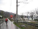 Versetzung ÖBB-Schaltstelle beim Übergang Strandbad - Übergang geschlossen.