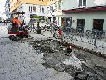 Belagsarbeiten in der Innenstadt