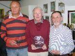 Beste Schachsenioren: Radovan Rankovic (2.), Hans-Uwe Kock (1.) und Albert Hämmerle (3.) (v.l.)