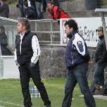 Bizau verpasste den Sprung an die Tabellenspitze. Trainer Stipo Palinic und Josef Greber.