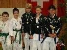 Das siegreiche Team des Karate Club Lustenau erfolgreich beim Frühjahrs Cup in Höchst.