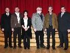 Der neue Gemeindevorstand: Bürgermeister Werner Müller, Eugen Broger, Mag. Gerda Berchtel, Heinrich Boll, Dr. Heinz Vogel und Vize-Bürgermeister Gert Wiesenegger