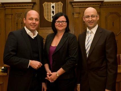 Die drei SPÖ-Stadträte Michael Ritsch, Annette Fritsch und Klaus Kübler sind mit der Ressortverteilung alles andere als einverstanden.
