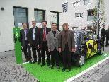 Eröffnung der ersten öffentlichen Strom-Tankstelle für Elektroautos im Leiblachtal vor der RAIBA in Hörbranz.