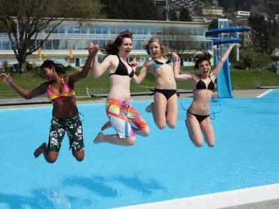 Freibadsaison Val Blu- hier wird einiges geboten.