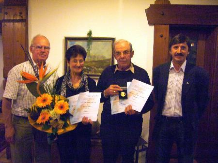 Josef Amann, Eva Ehrenbrandtner, Gerhard König und Obmann Holger Bürkle