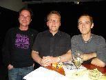 Künstler Gerhard Diem, Vernissageredner Augustin Jagg und Kurator Edgar Leißing