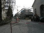 Langzeitsperre der Schulgasse in Dornbirn.