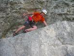 """Martin genoß den Aufstieg bei der Tour """"Osterhase"""", welche den Schwierigkeitsgrad 6b aufweist"""