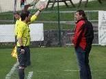 RW Rankweil Trainer Frank Flatz musste auf die Tribüne.