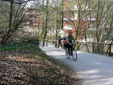 Radweg vom Weidach ins Vorkloster durch den Riedner Tunnel in Bregenz