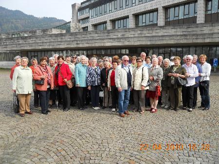 Viel Spaß hatten die Nenzinger Pensionisten bei ihrem Ausflug.