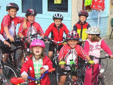 Begeisterte Mountainbike Kids