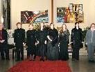 Bild: Die Sängerinnen und Sänger mit dem Organisten und der Pianistin.