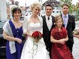 Das Brautpaar mit den Trauzeugen und Selina