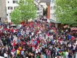 Die Feldkircher Innenstadt gehörte den Teilnehmern des Caritas LaufWunders