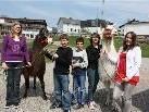 Die Lamas wurden von den Kindern sofort ins Herz geschlossen.