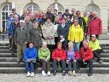 Die erste von drei Kolping-Radlergruppen im Chiemgau
