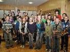 Die jungen Musiker sind mit viel Freude dabei.