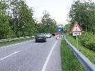 Durch eine Ampelregelung ist die Brücke nur einspurig befrahrbar.