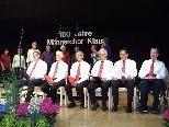 Fünf Sängerpersönlichkeiten wurden im Rahmen des Männerchorjubliäums geehrt.