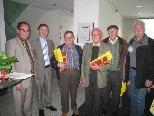 Gebhard Forster, Karl Mangold und Mathias Milz - 50 Jahre Mitglied der Raiffeisengenossenschaft.