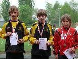 Gold für Mike Sgarz und Silber für Matthias Nussbaumer über 2000 m der männl. U14
