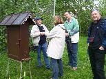 Großes Interesse herrschte rund um die Bienenschaukästen und die Besucher hatten zahlreiche Fragen.