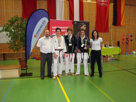 Karateclub Blumenegg erfolgreich beim Turnier in Dornbin