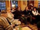 Literaturinteressierte diskutierten im Schlosskaffee.