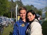 Mutter Patricia Lipburger gratulierte Sohn Julian zum zweiten RLW-Saisontor.