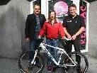 Nadine Taudes mit Mag. Matthias Bösch und Egon Nägele.