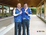 Niki Herceg und Ivica Vundac wurden Staatsmeister im Boccia-Duobewerb.