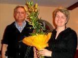 Obmann Eugen Burtscher gratuliert Helene Rützler