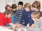 Schülerinnen und Schüler der Mittelschule Sulz-Röthis an der HTL in Rankweil.