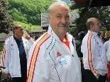 Spanien Teamchef Vicente del Bosque mit Bedingungen sehr zufrieden.