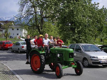 Traktoren-Oldtimerclub Nüziders lädt ein zum Frühschoppen