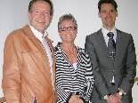 Walter Weirather (l.) mit dem neuen WIGE-Führungsduo Marianne Jaspers und Paul Mathis.