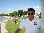 Werner Kohler wünscht allen einen schönen Badesommer im Lochauer Strandbad.