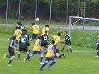 Zu Spielbeginn setzte sich die SPG öfters im gegnerischen Strafraum fest.