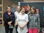(vo li.): Vize-BM Ilse Mock, Sharon Montibeller, Jugendhausmitarbeiterin Natalia Kolb,  Julia Gantner und Julia Gisinger