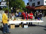 Auch am Dorfmarkt bot Johannes Gangel seine Holzspielsachen bereits an.